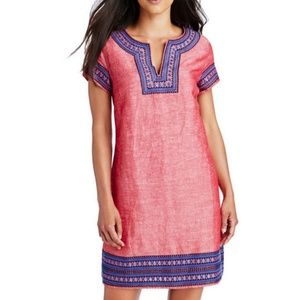 VINEYARD VINES New Embroidered Red Tunic Dress 2